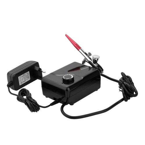 Dual Action Airbrush Air Compressor Kit Air Pump dla Art Painting Tattoo Craft Cake Spray Pen Tool Set