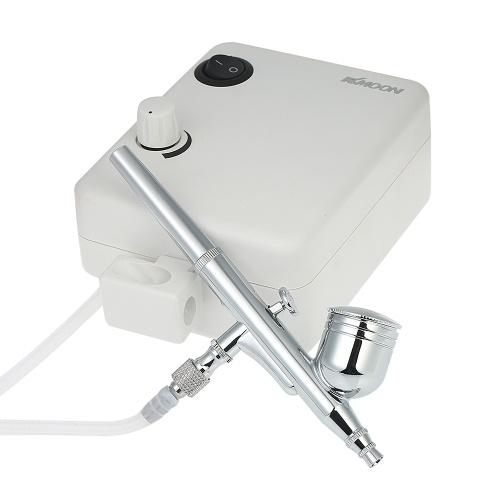 KKmoon Set di mini compressori d'aria per mini aerografo a doppia azione multiuso Kit di spazzole per aria a gravità per pittura di arte Tatuaggio Manicure Artigianato Modello di spray per aerografo Set di strumenti per unghie 100-250 V