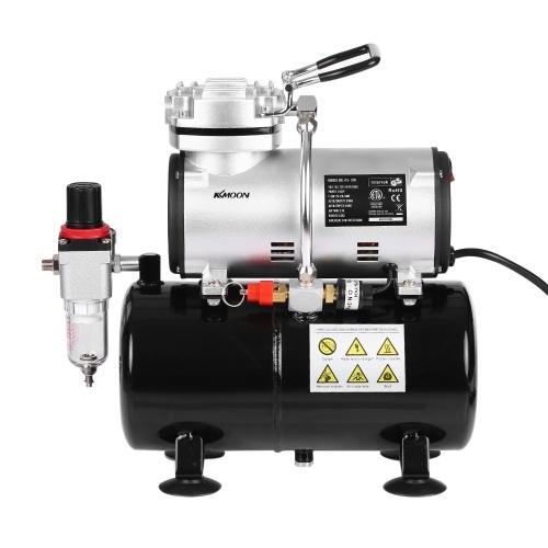 Compressore d'aria a pistone 1/6 HP KKmoon Professional senza olio Pompa ad alta pressione silenziosa Tattoo Manicure Spray compressore d'aria con serbatoio 220-240V