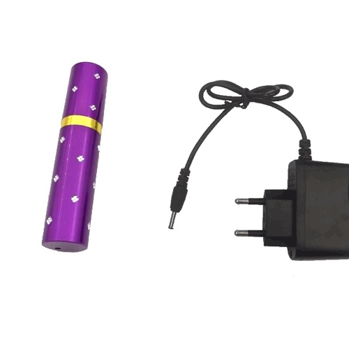 Donne Mini Rossetto Torcia elettrica autodifesa Strumento difensivo portatile Torcia a LED ricaricabile Stun Tactical High Voltage Shock elettrico