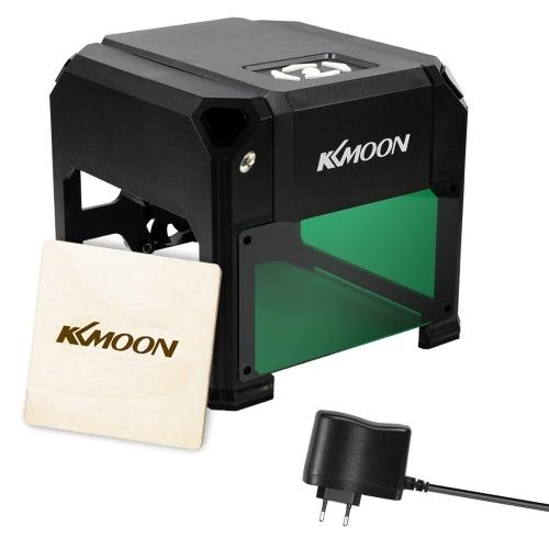Kkmoon diy compacto desktop máquina de gravação a laser logotipo marca impressora carving máquinas