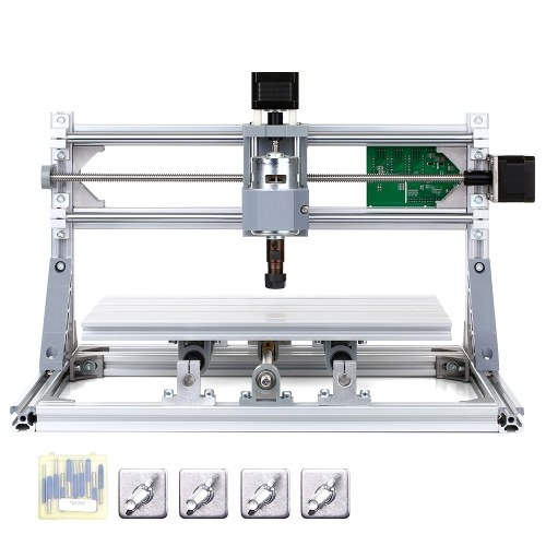 CNC3018 DIY CNC Router Kit 2-in-1 Mini Engraving Machine GRBL Control 3 Axis for PCB PVC Plastic Acrylic Wood Carving Milling Engraving Machine with ER11 Collet XYZ Working Area 300x180x45mm