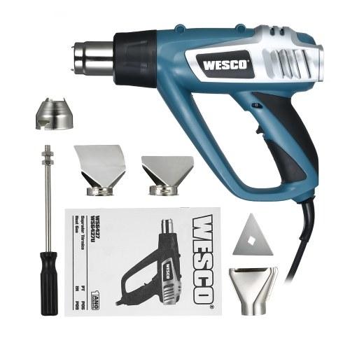 WESCO 2000W Industrielle Schnelle Heizung Heißluftpistole Hochwertige Hand Elektrische Einstellbare Temperatur Heißluftpistole Werkzeug AC220V