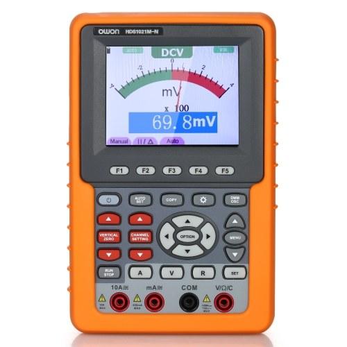 Owon HDS1021M-Nシングルチャンネルオシロスコープハンドヘルドオシロスコープデジタルストレージオシロスコープ&マルチメータ20MHz帯域幅500M / sサンプリングレート