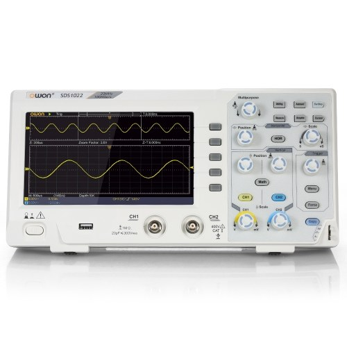 "Owon SDS1022オシロスコープオシロスコープデジタルストレージオシロスコープ2CH 20MHz 100MS / s 7 ""LCDディスプレイ"