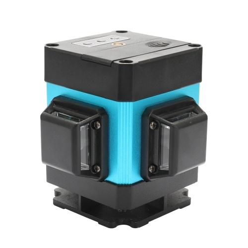 3D verde 12 líneas Línea de 360 grados Medición de nivel láser de alta precisión para escaleras de techo de pared Decoración con control remoto