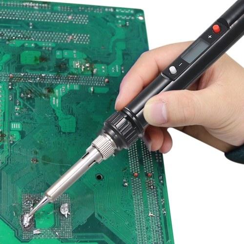 936H LCD Termostato Digital Ajustable Gratis Soldador Eléctrico Mini Estación de Soldadura Hierros Eléctricos Rojo Tipo UE