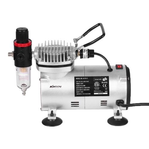 KKmoon Mini Air Compressor Professional Gravity Feed Dual-Action Airbrush Piston Air Compressor