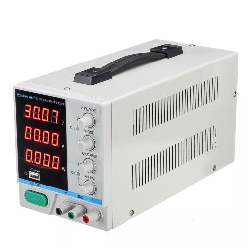 LONG WEI PS-3010DF 110V / 220V 30V 10A Регулируемый светодиодный цифровой дисплей Источник питания постоянного тока Переключение Регулируемый 5V 2A USB-блок питания