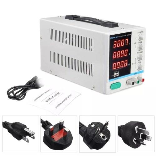 LARGO WEI PS-3010DF 110V / 220V 30V 10A Pantalla LED LED ajustable Fuente de alimentación DC Conmutación regulada 5V 2A Fuente de alimentación USB