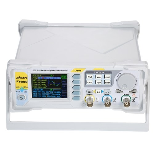 KKmoon 20MHz High Precision DDS Generator Digital DDS Dual-channel Signal Generator Function Signal/Arbitrary Waveform Generator Pulse Signal Source 250MSa/s Frequency Meter VCO Burst AM/PM/FM/ASK/FSK/PSK Modulation Function Signal Generator
