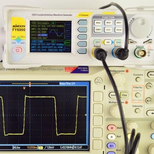 KKmoon Генератор сигналов высокой точности 30 МГц Цифровой DDS Двухканальный генератор сигналов Функция / Генератор сигналов произвольной формы Источник импульсного сигнала 250 мс / с Частотомер Частотный генератор VCO Генератор функций модуляции AM / PM / FM / ASK / FSK / PSK фото