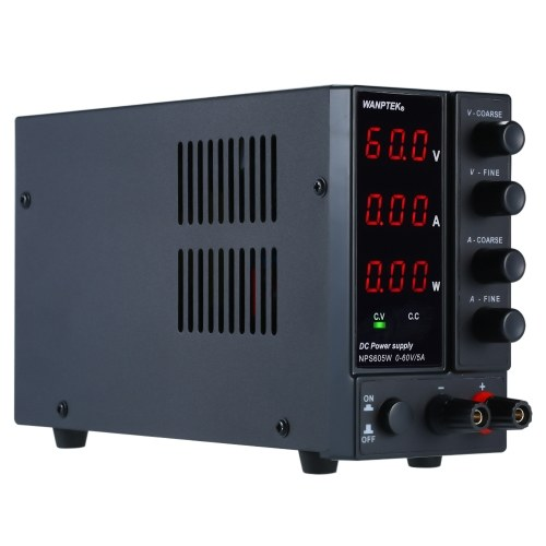 DC Regulator Power Supply US NPS-1203W Adjustable Switching Regulator DC Power Supply with Power Display Electric Testers DC Switching Power Supply