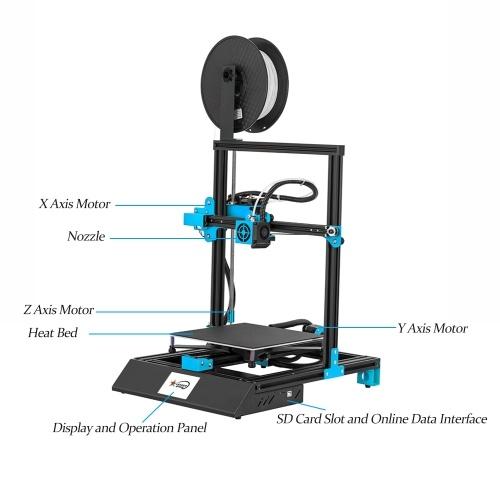 EZT M08 3D Printer High Precision 3.8 Inch Touchscreen DIY Kit