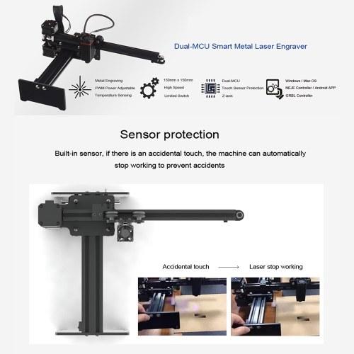 20W Desktop Laser Engraver Machine DIY Laser Logo Mark Printer for Metal Engraving and Deep Wood Engraving