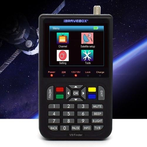 V9 Finder Цифровой спутниковый искатель ЖК-спутниковый искатель Цифровой спутниковый искатель сигналов Метр спутниковый метр Спутниковый искатель 3,5-дюймовый ЖК-цифровой дисплей Спутниковое телевидение