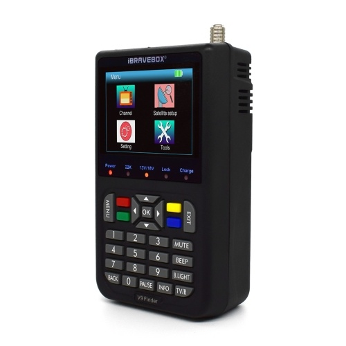 V9 Finder Digital Satellite Finder LCD Satellite Finder Digital Satellite Signal Finder Meter Satellite Meter Satellite Finder 3.5 inch LCD Digital Display Satellite Television