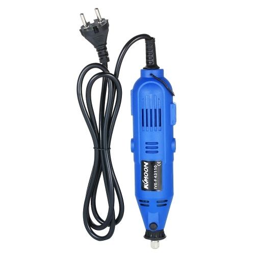 Smerigliatrice elettrica professionale multi-funzionale KKmoon Set trapano elettrico a velocità variabile a 6 velocità Utensile rotante con 35 pezzi Accessori per fresatura Lucidatura Foratura Incisione