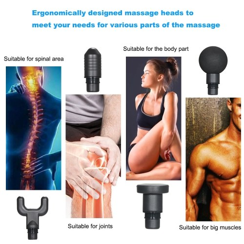 12V Electric Muscle Massager Portable Percussive Vibrating Powerful Massage Guns Handheld Deep Tissue Muscle Massager for Neck Back Shoulders Foot Leg