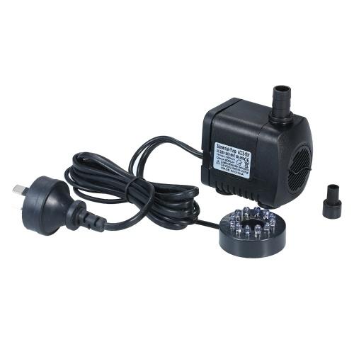 LED Light Submersible Pump 800L/H Ultra-Quiet Aquarium Pond Tank Pool Water Fountain Pump AU Plug