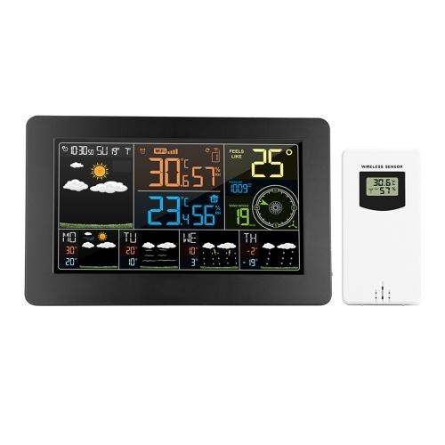 Многофункциональный цветной WiFi Метеостанция APP Control Smart Weather Monitor