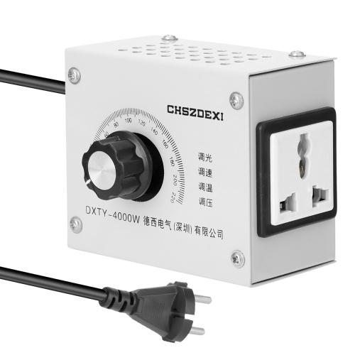 コンパクトな可変電圧レギュレータポータブル速度温度光電圧調節可能な調光器