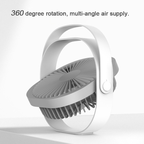 USB Rechargeable Small Fan Portable Desktop Cooling Fan with Three Gear Adjustable Wind Speed for Home Office Dormitory