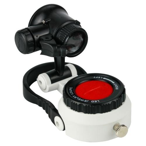 宝石時計職人切手収集家のための15X / 25X / 55X倍率を照らす宝石ルーペ拡大鏡拡大鏡LED