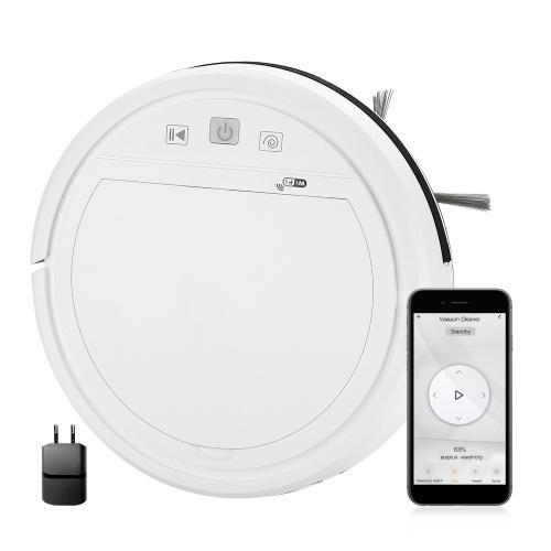 Wifi 3 em 1 Robotic Cleaner 1500Pa Potente aspirador robô aspirador 2 Mode Compatível com Alexa Google Assitant Tuya App Ideal para animais de estimação, carpetes de cabelo e pisos duros