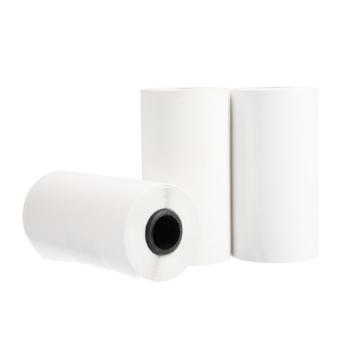 KKmoon Printable Sticker Paper 3 Rolls Self Adhesive Printer Paper Roll Direct Thermal Paper 57*30mm for Any Direct Thermal Printer