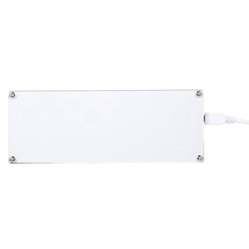 DIY Large 6 Digit LED Kit de relógio de tubo digital de duas cores Touch Control com tempo Temperatura Data Semana Exibição