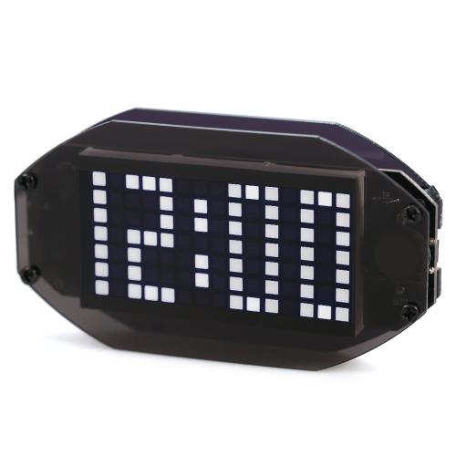 DIY黒デジタルLEDミラークロックマトリックスデスクトップ目覚まし時計電子学習キットモジュール12H / 24H機能℃/℉温度表示室内温度計調節可能なLED輝度休日と誕生日思い出し機能