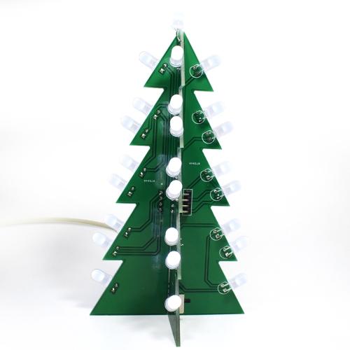 DIYスター点滅の3D LEDライトデコレーションクリスマスツリー電子学習キットモジュール異なる効果をワンボタンで切り替える
