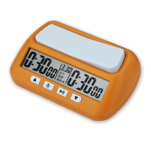プロのチェス時計電子ボードゲーム競技時間計コンパクトカウントアップダウンタイマー