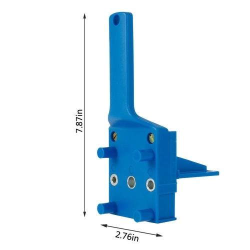41Pcs Woodworking Drill Guide Kit Straight Hole Locator Dowel Pins Wood Drill Hole Tool