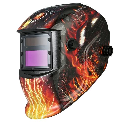 工業用溶接ヘルメットソーラーパワーダークニング溶接ヘルメット調整可能なヘッドバンド付きTIG MIG