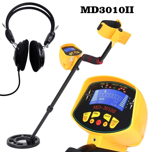 高感度MD3010II地下の金属探知器ゴールドディガートレジャーハンターメタルファインダートレジャー探求ツール+イヤホン
