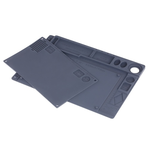 2-in-1 Heat Insulation Silicone Pad for BGA Soldering Repair Solder Station Mat High Temperature Res
