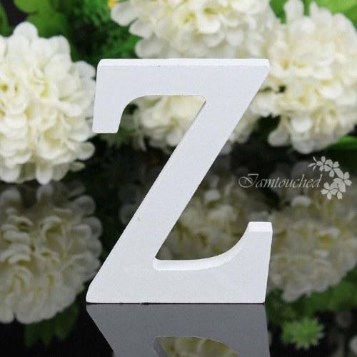AZ Wedding Supply Letras independentes de madeira 26 Alfabeto Christmas Party Decor (Z)