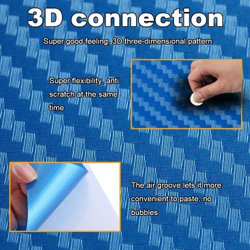 Оригинальные Citywolf углеродные волокна кожи Стикер крышка протектор голубой для PS4 & игровой контроллер