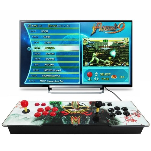 9 Arcade-Konsole 1500 in 1 2 Spieler steuern Arcade-Spiele-Stations-Joystick