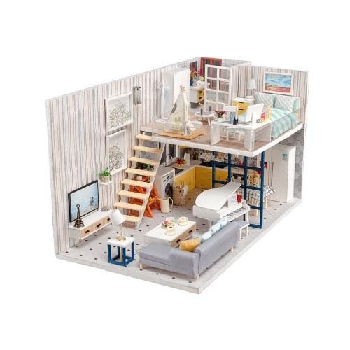 Собери DIY кукольный домик игрушка деревянная миниатюра комплект