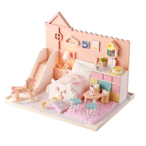 Kit de miniatura en bois jouet maison de poupée bricolage