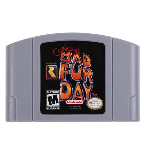 Für Nintendo 64 N64 Mario Smash Bros Zelda Videospiel Patrone Konsole Karte 64 Bit Spiele Englisch Sprache US-Version (Conkers Bad Fur Day)