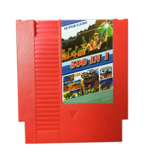 Immagine di Cartuccia di gioco NES 500 in 1 Super Game Collection 8 bit 72 Pin Game Card No Repeat