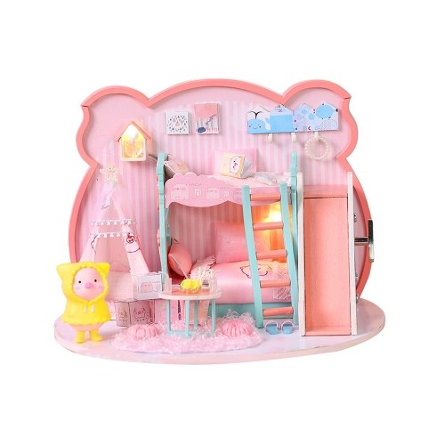 DIY Doll House Toy Miniatura de madeira Kit