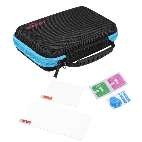 Ametoys Storage Bag Carry Case with 2pcs Screen Protectors for Nintendo NEW 2DSXL / 2DSLL