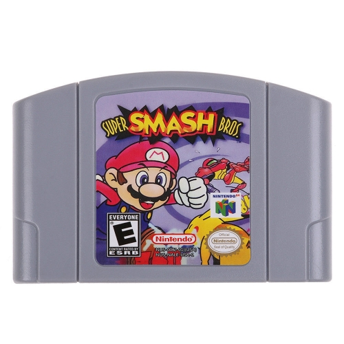 Für Nintendo 64 N64 Mario Smash Bros Zelda Videospiel Patrone Konsole Karte 64 Bit Spiele Englisch Sprache US-Version (Super Smash Bros)