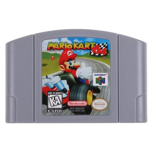 Per Nintendo 64 N64 Mario Smash Bros Zelda Console per videogiochi Scheda a 64 bit Giochi di lingua inglese Versione UE (Mario Kart)