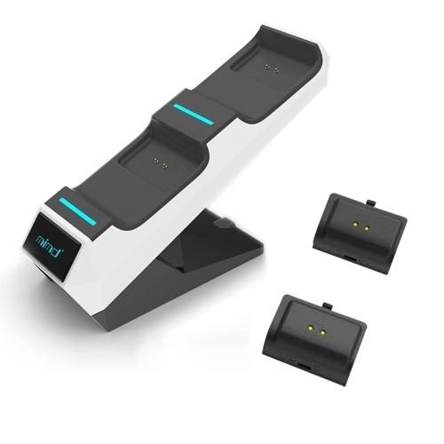 USB Dual Charge Base mit 2 Akkus für den Wireless Controller der X-BOX-Serie